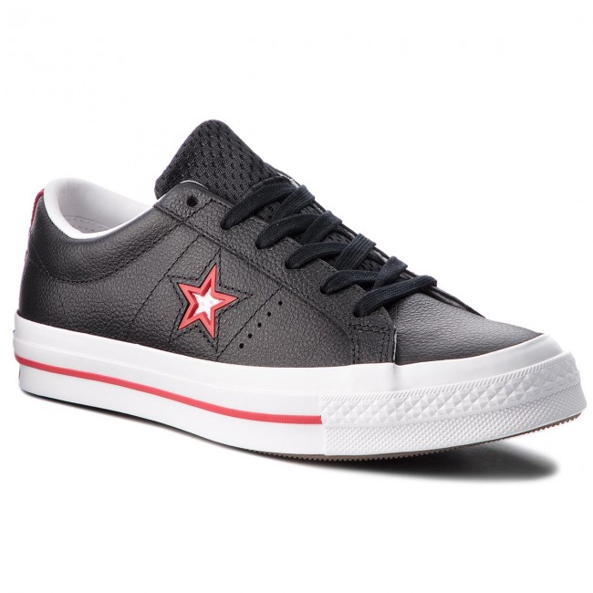 Tenisky CONVERSE - One Star Ox 161563C Black Converse Red White ... 4d1b025762