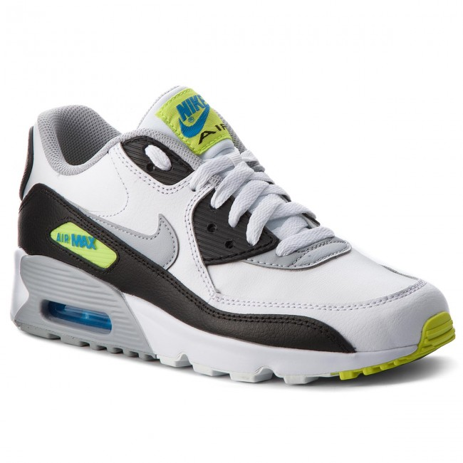 1d40cd94284 Boty NIKE - Air Max 90 Ltr (GS) 833412 113 White Wolf Grey Photo ...