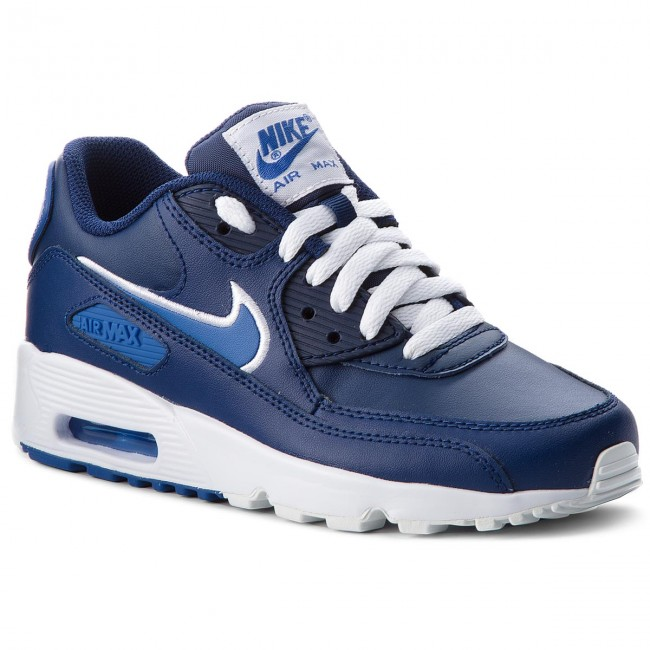 Boty NIKE - Air Max 90 Ltr (GS) 833412 409 Blue Void Game Royal ... 576f331730