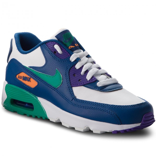 e6be7f20739 Boty NIKE - Air Max 90 Ltr (GS) 833412 410 Gym Blue Neptune Green ...