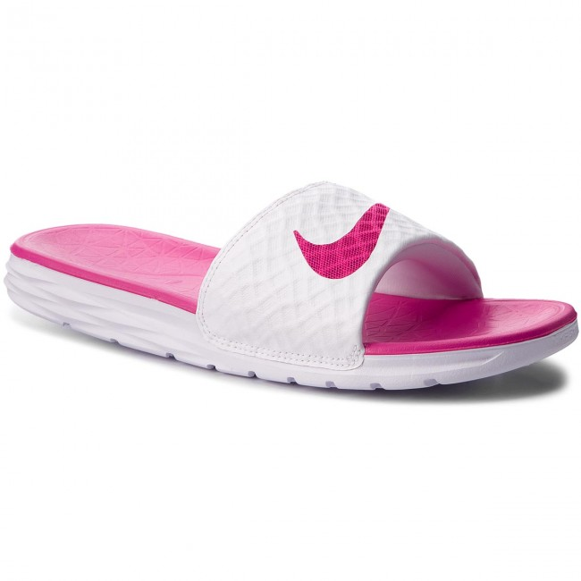 buy popular 136af 43c35 Nazouváky NIKE - Benassi Solarsoft 705475 160 White Fireberry