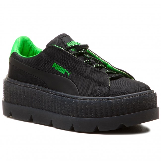 dc5a8a4b7bb71 Sneakersy PUMA - Cleated Creeper Surf Wns 367681 03 Puma Black/Green  Gecko/Black