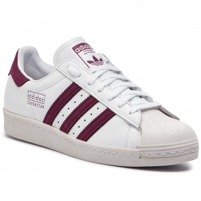 Boty adidas - Superstar 80s CM8439 Ftwwht Maroon Crywht - Sneakersy ... 44b08aac09