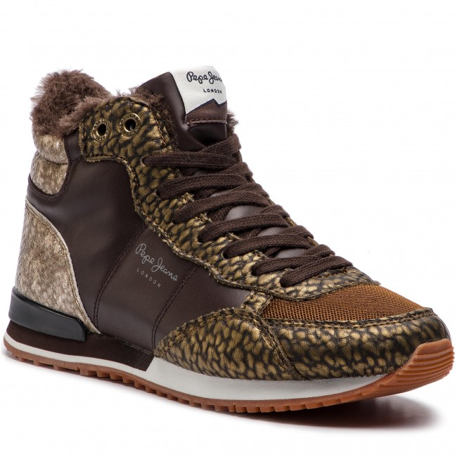 Sneakersy PEPE JEANS - Gable Tumble Bootie PLS30789 Brown 898 ... 337ab8f43c