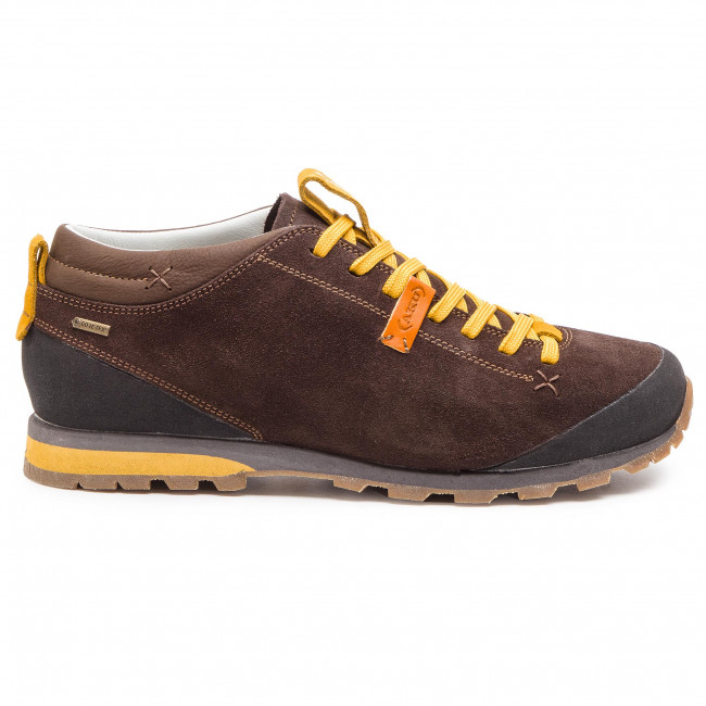 Trekingová obuv AKU - Bellamont 2 Suede Gt GORE-TEX 504.2 Dark Brown Yellow 982d153a17f