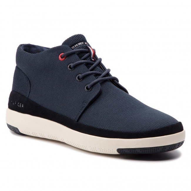 3319a6f986af3 Sneakersy TOMMY HILFIGER - Light Material Mix Boot FM0FM02065 Midnight 403