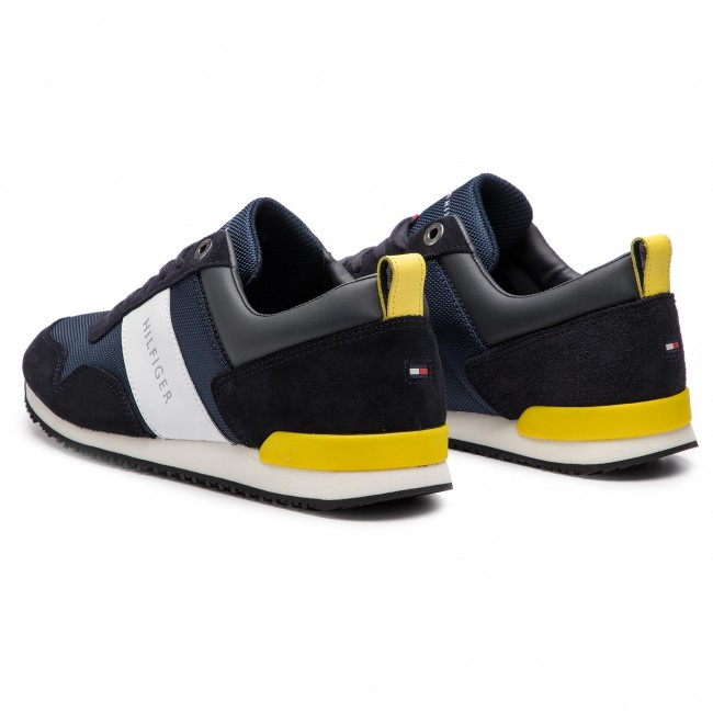 bff187e969 Sneakersy TOMMY HILFIGER - Iconic Material Mix Runner FM0FM02042 Midnight  403