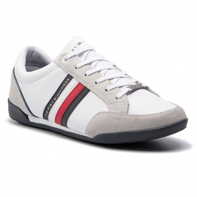 Sneakersy TOMMY HILFIGER - Corporate Material Mix Cupsole FM0FM02046 White  100 773ae9cfc9