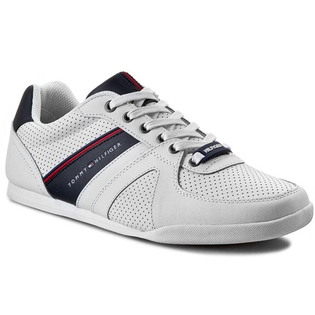 Sneakersy TOMMY HILFIGER - Riley 2A FM56819001 White Midnight 100 ... 974f1184d8