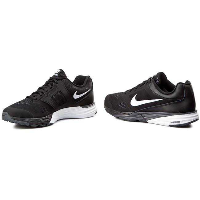 Boty NIKE - Tri Fusion Run 749170 001 Black White Dark Grey ... e8a0f11459