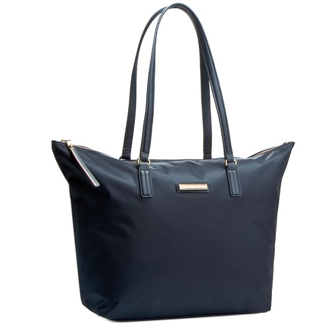 104fb014bc0 Kabelka TOMMY HILFIGER - Poppy Tote AW0AW01771 Midnight 001 ...