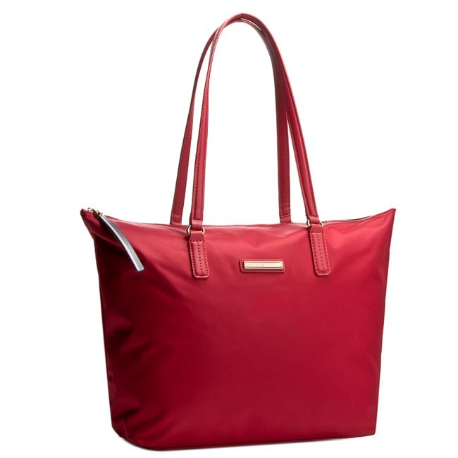 Kabelka TOMMY HILFIGER - Poppy Tote AW0AW01771 Scooter Red 623 ... 2686f5e22a6