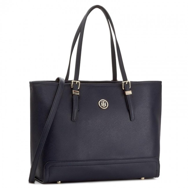 Kabelka TOMMY HILFIGER - Honey Med Tote AW0AW04547 413 - Shopperky ... 63cdbef7652
