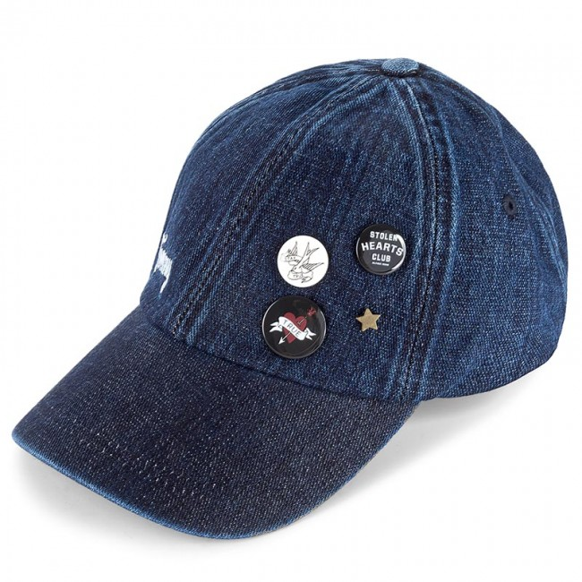 2b987ba83d6 Dámská čepice TOMMY HILFIGER - DENIM Patches   Pins Baseball Cap AW0AW04808  440