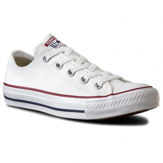 ce4713da0ced Plátěnky CONVERSE - All Star Ox M7652C Optical White - Ploché ...