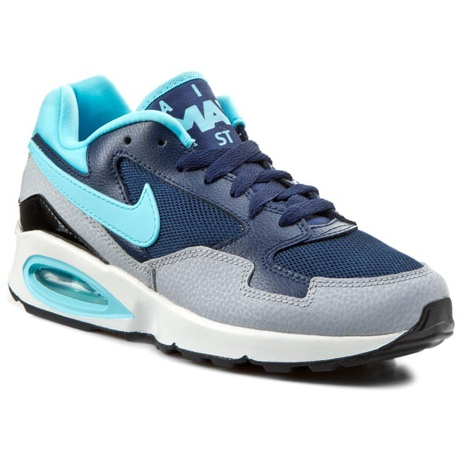 Boty NIKE - Wmns Air Max St 705003 400 Mid Navy/Td Bl/Wlf Gry/Blk