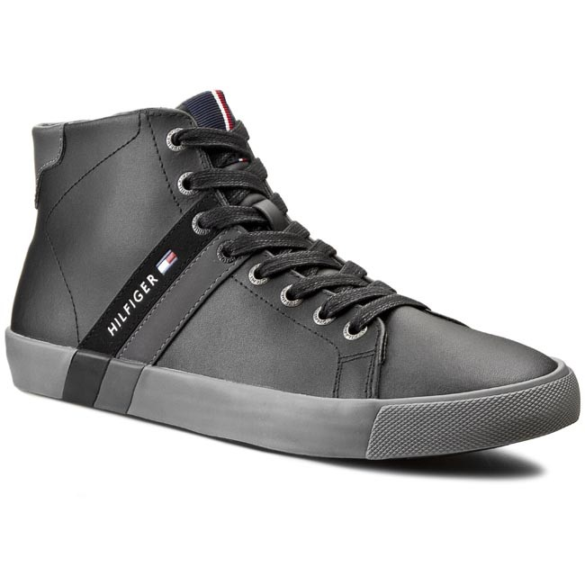 Sneakersy TOMMY HILFIGER - Volley 6A_1 FM56820558  Black 990