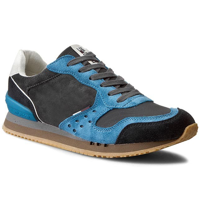Sneakersy TOMMY HILFIGER - DENIM Barton 1C_3 EM56820066  Magnet/Methyl Blue 739