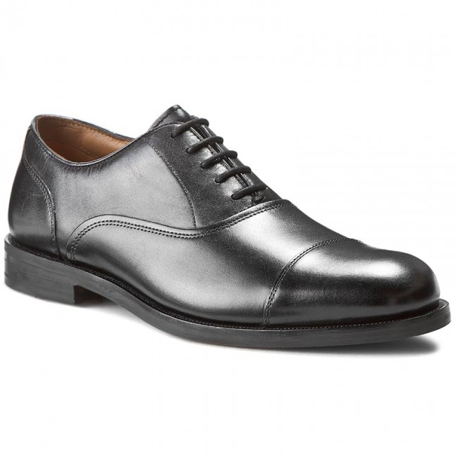 Polobotky CLARKS - Coling Boss 261193457 Black Leather