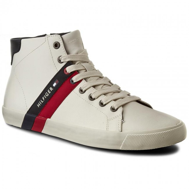 Sneakersy TOMMY HILFIGER - Volley 6A FM56821510 Off White 156