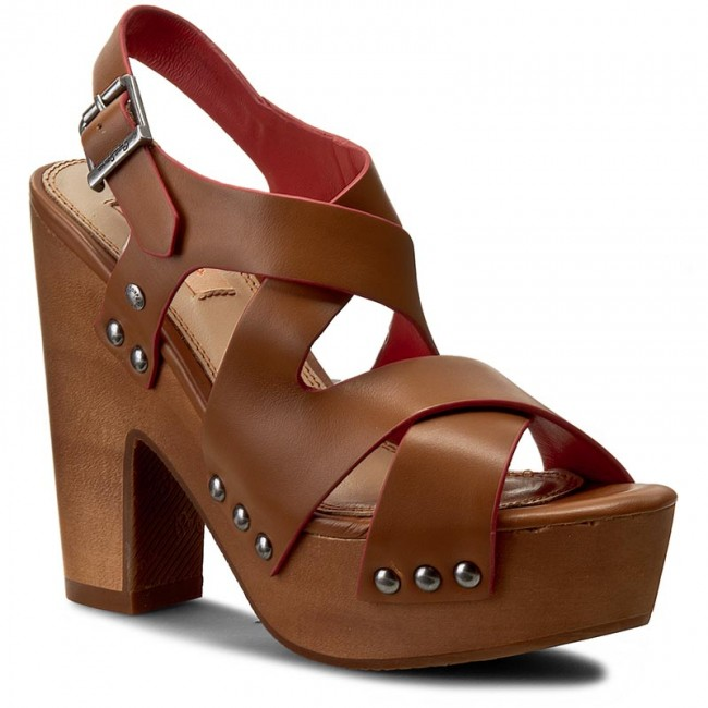 Sandály PEPE JEANS - Joplin Cross PLS90152 Nut Brown 877
