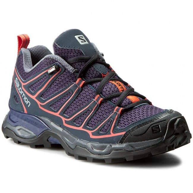 Trekingová obuv SALOMON - X Ultra Prime W 391843 20 M0 Nightshade Grey/Deep Blue/Coral Punch