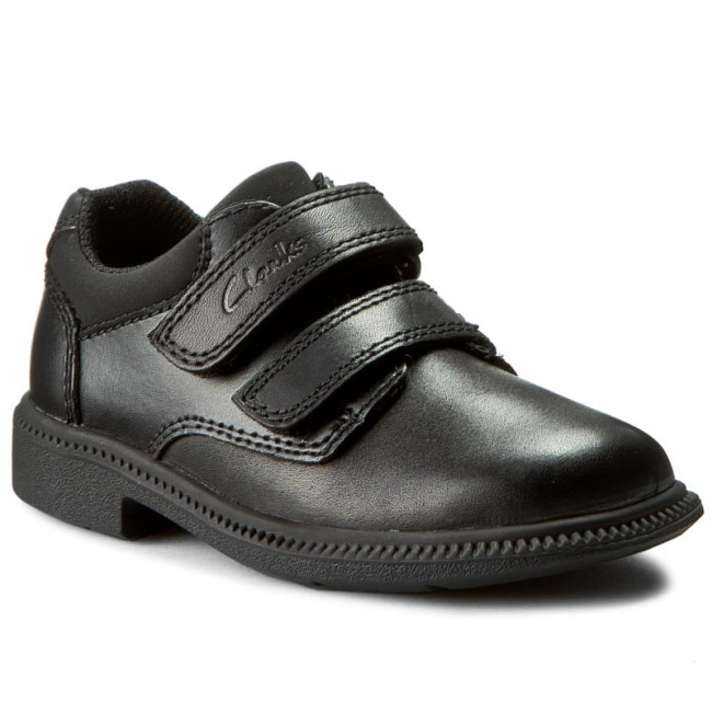 Polobotky CLARKS - Deaton Inf 203406256 Black Leather