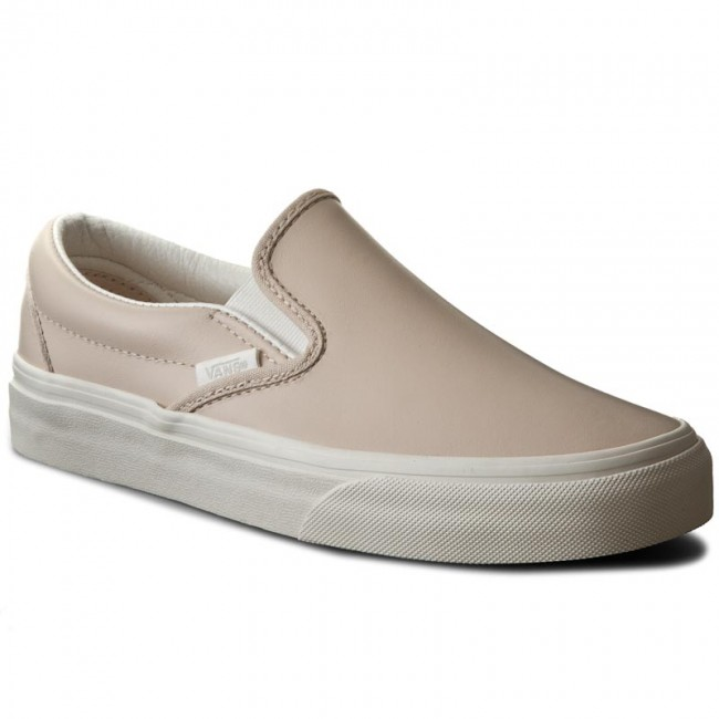 Tenisky VANS - Classic Slip-On VN0003Z4IFN (Leather) WhsprngP/BlckDBlc