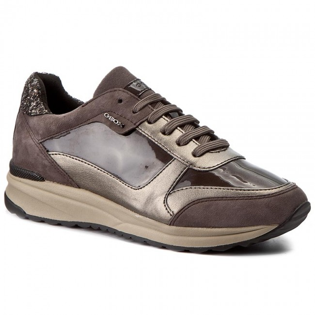 Sneakersy GEOX - D Airell C D642SC 0HINF C6TQ6 Dk Coffee/Taupe