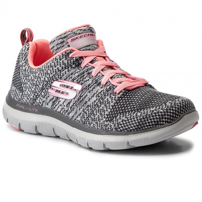 Boty SKECHERS - High Energy 12756/CCCL Charcoal/Coral