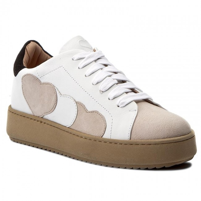 Sneakersy TWINSET - Sneakers CA7PJA  Bic Ottic/White 01079