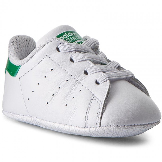 Boty adidas - Stan Smith Crib B24101 Ftwwht/Ftwwht/Green