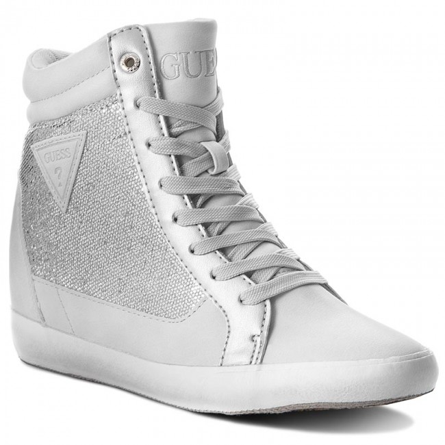 Sneakersy GUESS - Patty FLATT1 FAB12 SILVE