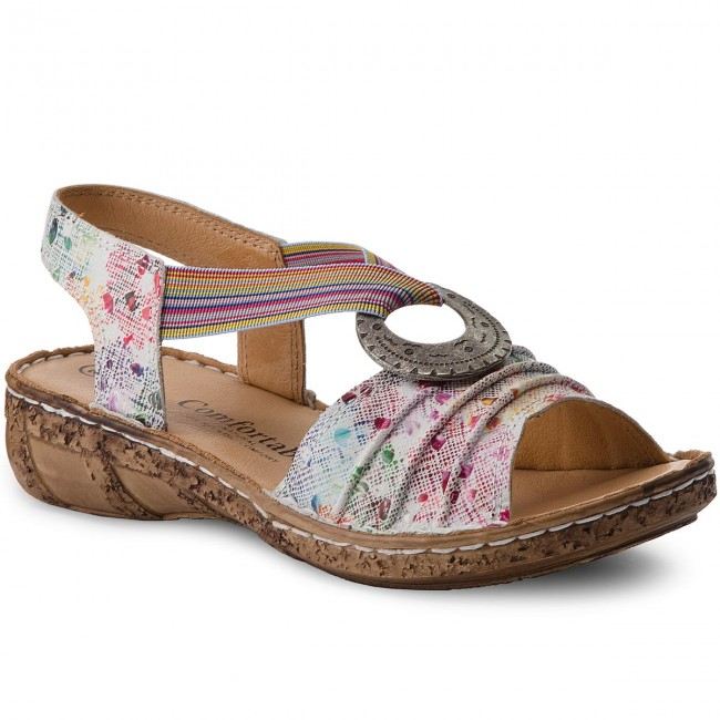 Sandály COMFORTABEL - 710890 Weiss/Floral 3