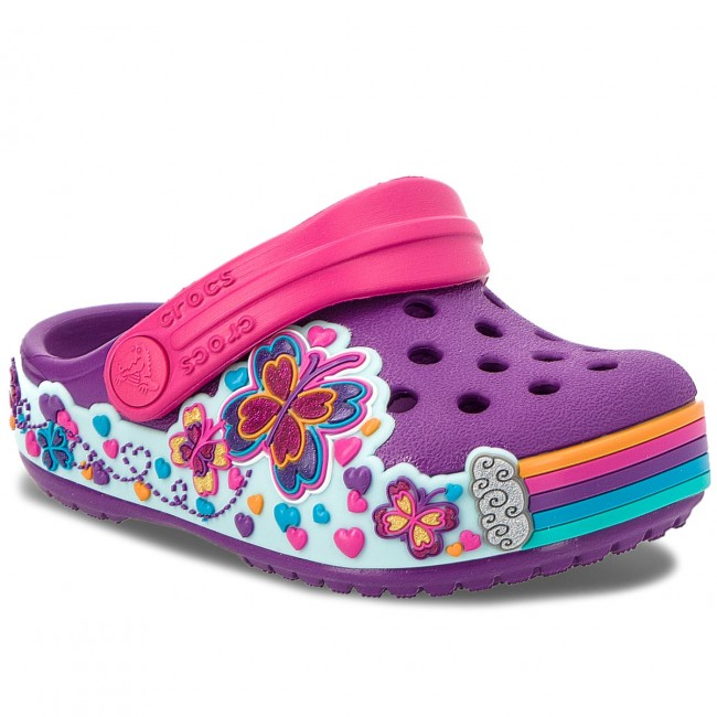 Nazouváky CROCS - Cb Fun Lab Graphic Clg K 204983  Amethyst