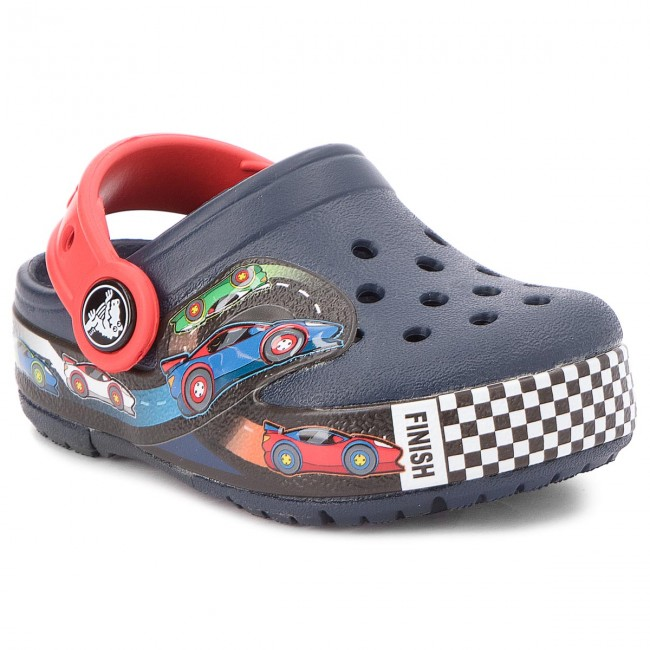 Nazouváky CROCS - Crocband Fun Lab Lights Clg K 204984 Navy
