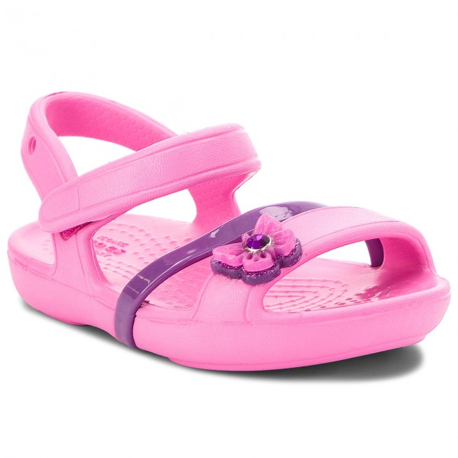 Sandály CROCS - Lina Sandal Kids 205043  Party Pink