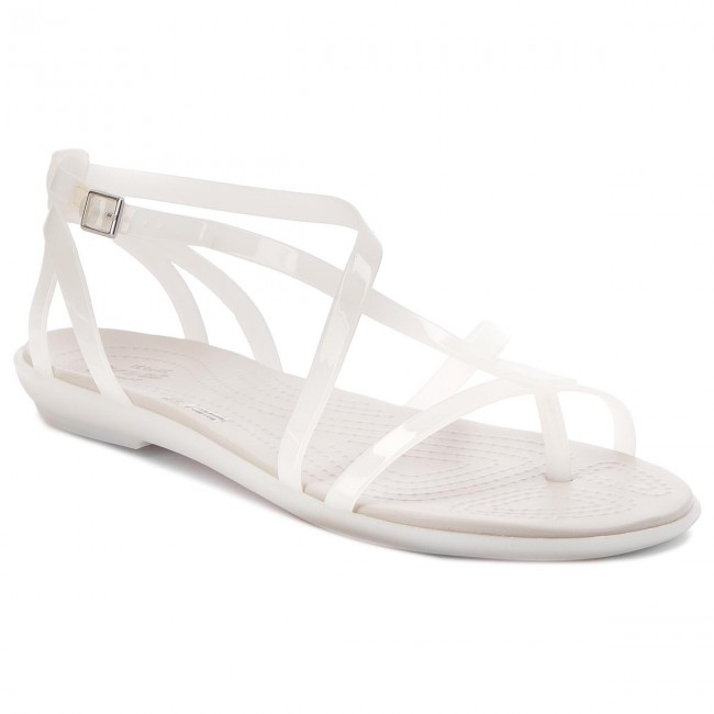 Sandály CROCS - Isabella Gladiator Sandal W 204914 Oyster/Pearl White