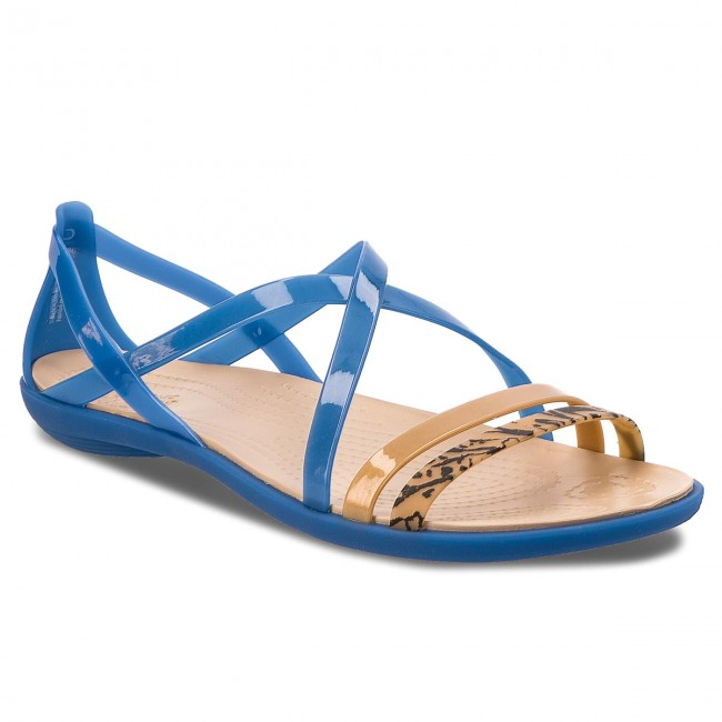 Sandály CROCS - Isabella Grph Strappy 205084 Blue Jean/Gold