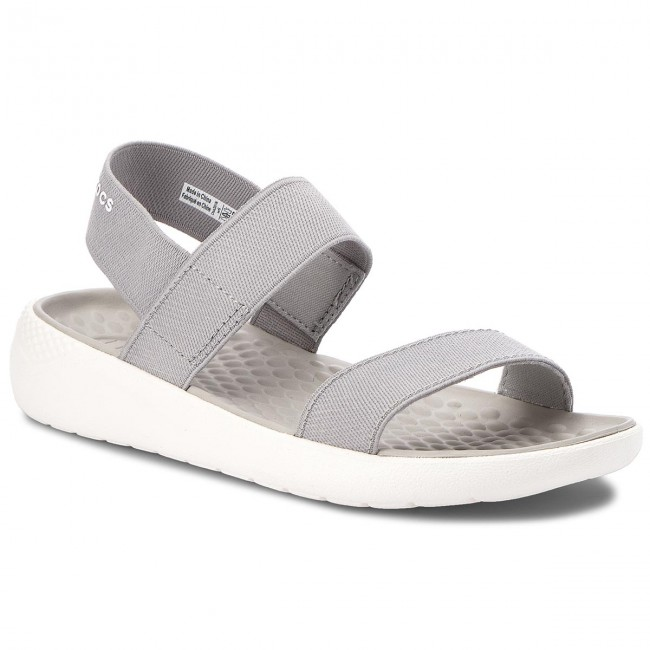 Sandály CROCS - Literide Sandal W 205106 Light Grey/White