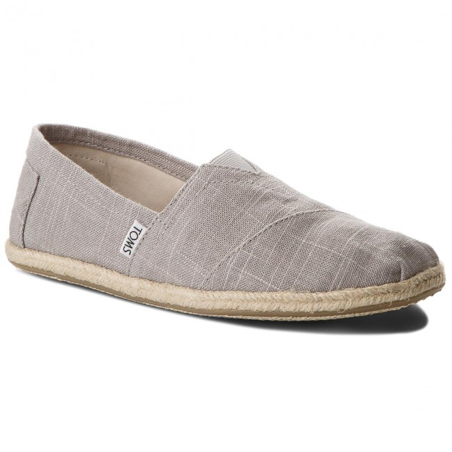 Espadrilky TOMS - Classic 10008381 Grey Linen/Rope Sole