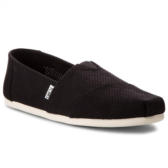 Polobotky TOMS - Classic 10011576  Black Perforated