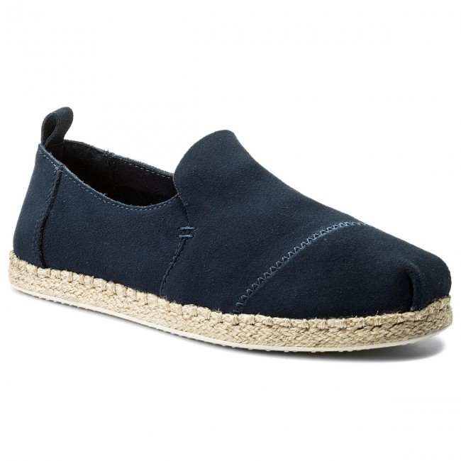 Espadrilky TOMS - Deconstructed Alpargata Rope 10011622  Navy Suede