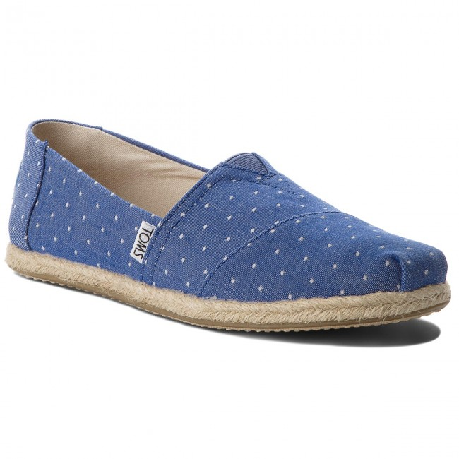 Espadrilky TOMS - Classic 10011643 Imperial Blue Dot