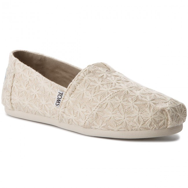 Polobotky TOMS - Classic 10011656 Natural Daisy Metallic