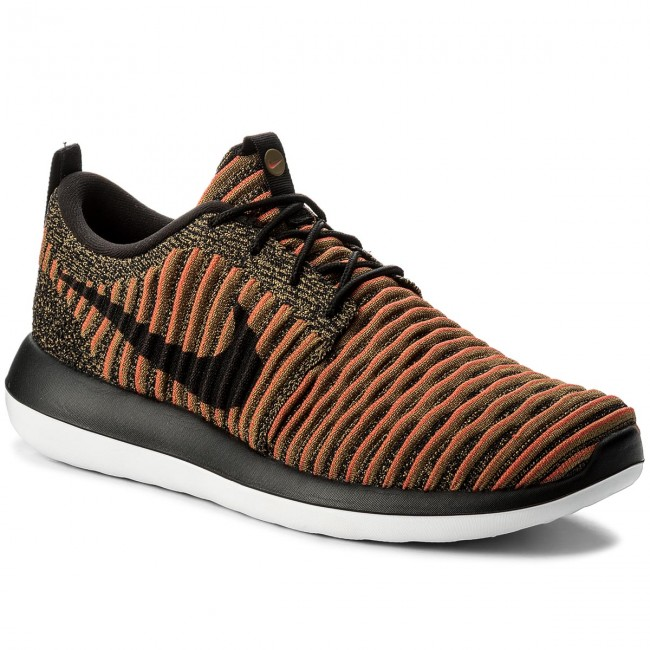 Boty NIKE - Roshe Two Flyknit 844833 009 Black/Black/White/Max Orange