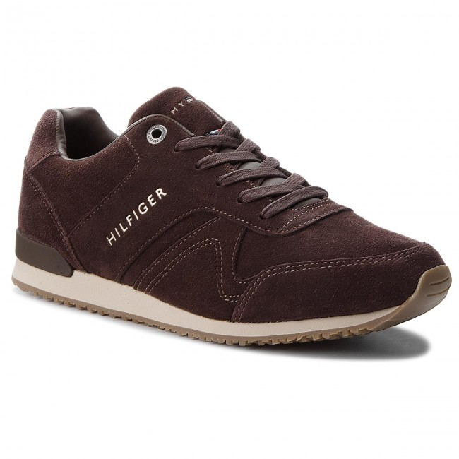 Sneakersy TOMMY HILFIGER - Iconic Suede Textile FM0FM01731 Coffee Bean 212