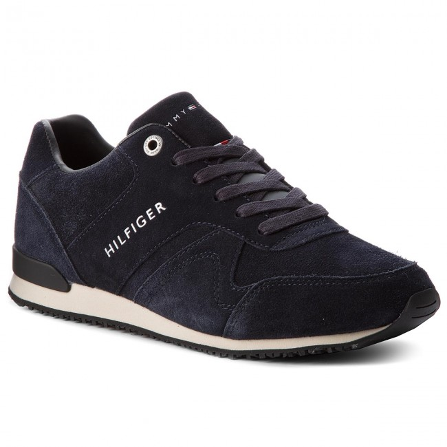 Sneakersy TOMMY HILFIGER - Iconic Suede Textile FM0FM01731 Midnight 403
