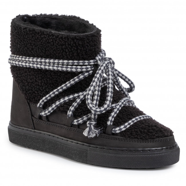 Boty INUIKII - Sneaker Curly 70202-16 Black-Blk Cot. Laces