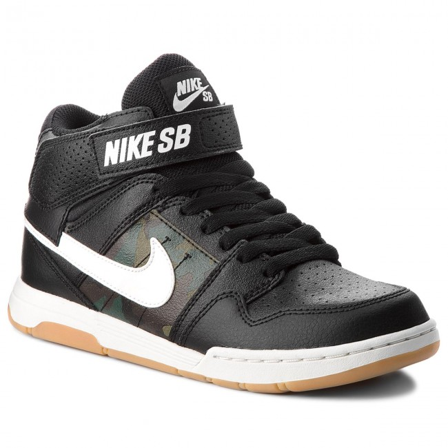 Boty NIKE - Mogan Mid 2 Jr B 645025 019 Black/Summit White